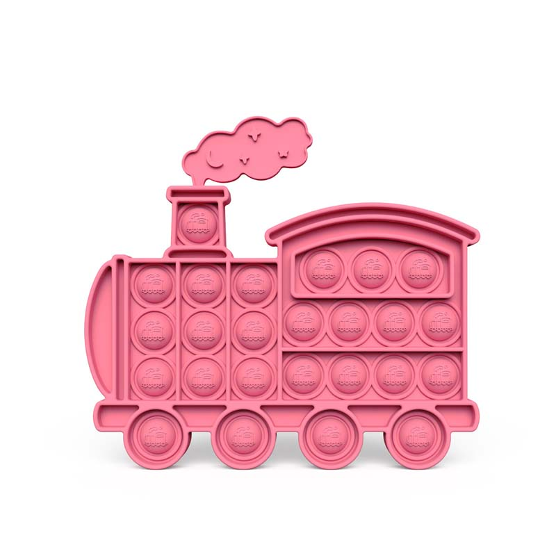 Train Car Pop It Fidget Toy Push Pop Bubble Sensory Fidget Toy Stress Relief For Kids & Adult