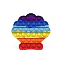 Rainbow Shell Pop It Fidget Toy Push Pop Bubble Sensory Fidget Toy Stress Relief For Kids & Adult