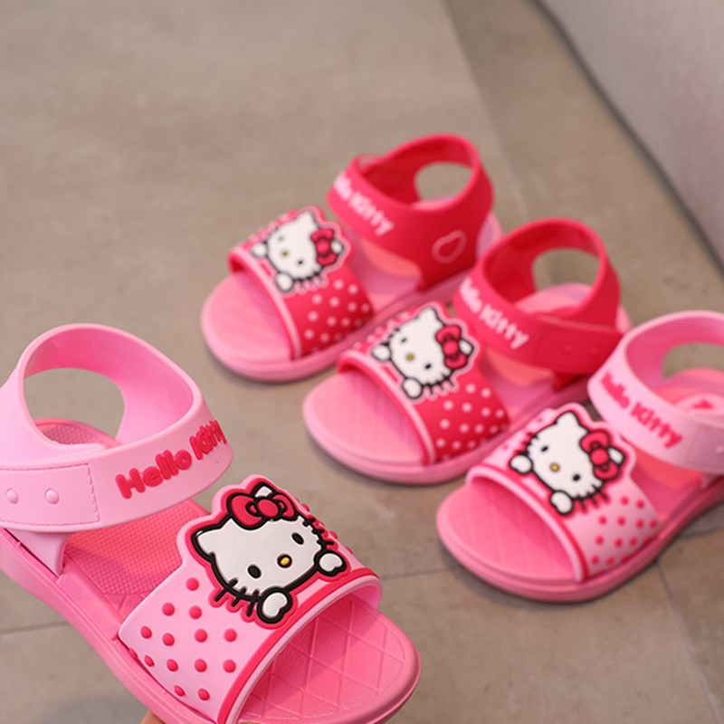 Kid Girl Cartoon Hello Kitty Sandals Shoes
