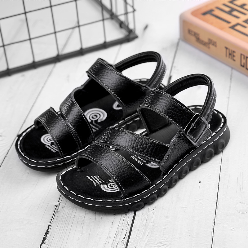 Kid Teens Boy PU Outside Sandals Shoes