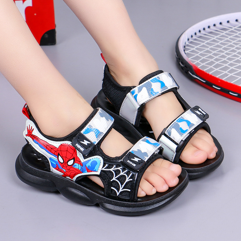Kid Teens Boy Spider Man Outside Beach Sandals Shoes