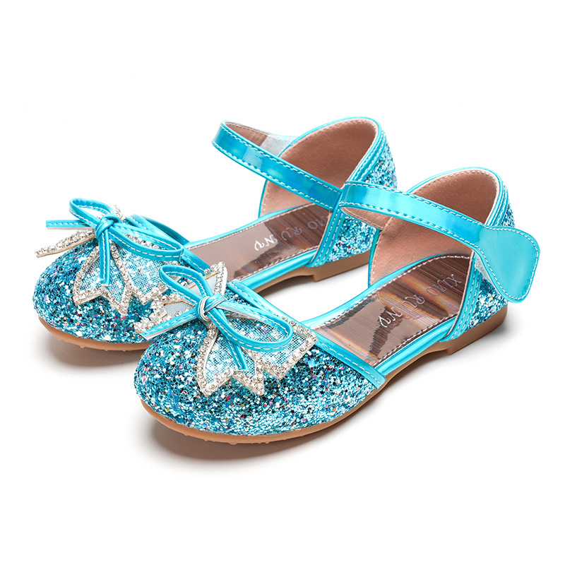 Kid Girl Glitter Jewelry Bowknot Princess Dress Shoes