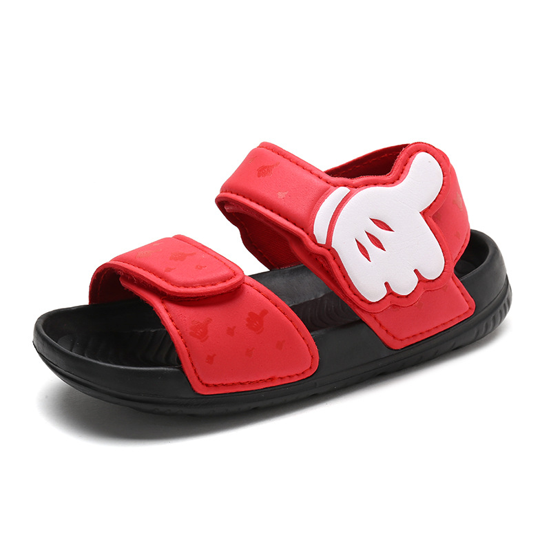 Kid Boy Mickey Thumbs Up Velcro Veins Outdoor Beach Sandals Shoes