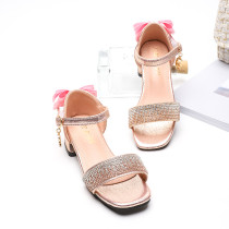 Kid Girl Crystal Bowknot Princess Pump Sandals Shoes