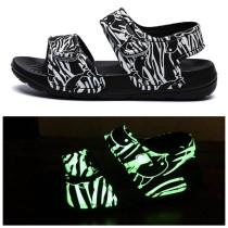 Kid Boy Girl Luminous Velcro Veins Outdoor Beach Sandals Shoes