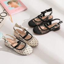 Kid Girl Polka Dot Mesh Girls Sandals Shoes