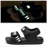 Kid Boy Luminous Shark Velcro Veins Outdoor Beach Sandals Shoes