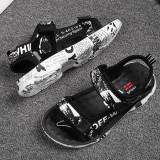 Kid Teens Boy Slogan Outside Beach Sandals Shoes