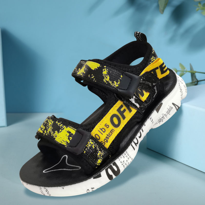 Kid Teens Boy Slogan Outside Beach Sandals Shoes