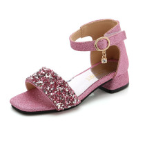 Kid Girl Sequins Open-Toed Soft Bottom Sandals Shoes