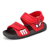 Kid Boy Marvel Spiderman Velcro Veins Outdoor Beach Sandals Shoes