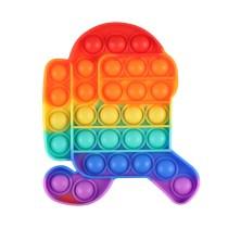 Run Among us Pop It Fidget Toy Push Pop Bubble Sensory Fidget Toy Stress Relief For Kids & Adult