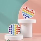 Rainbow Lettle Alphabet Heart Pop It Fidget Toy Push Pop Bubble Sensory Fidget Toy Stress Relief For Kids & Adult