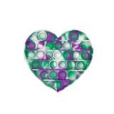 Tie dye Heart Pop It Fidget Toy Push Pop Bubble Sensory Fidget Toy Stress Relief For Kids & Adult