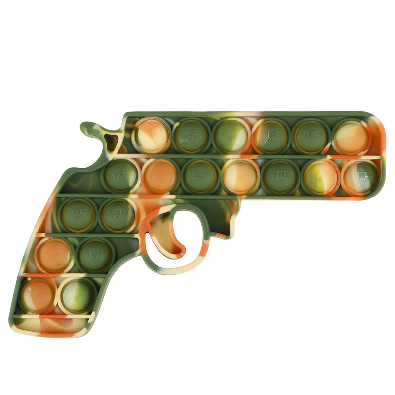 Green Camouflage Handgun Pop It Fidget Toy Push Pop Bubble Sensory Fidget Toy Stress Relief For Kids & Adult