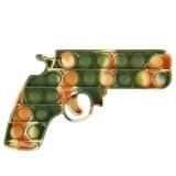 Green Camouflage Handgun Pop It Fidget Toy Push Pop Bubble Sensory Fidget Toy Stress Relief For Kids & Adult