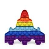 Rainbow Airplane Pop It Fidget Toy Push Pop Bubble Sensory Fidget Toy Stress Relief For Kids & Adult