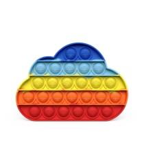 Rainbow Cloud Pop It Fidget Toy Push Pop Bubble Sensory Fidget Toy Stress Relief For Kids & Adult