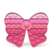 Ombre Bowknot Pop It Fidget Toy Push Pop Bubble Sensory Fidget Toy Stress Relief For Kids & Adult