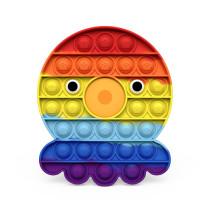 Rainbow Octopus Crab Pop It Fidget Toy Push Pop Bubble Sensory Fidget Toy Stress Relief For Kids & Adult