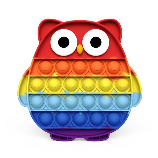 Rainbow Owl Pop It Fidget Toy Push Pop Bubble Sensory Fidget Toy Stress Relief For Kids & Adult