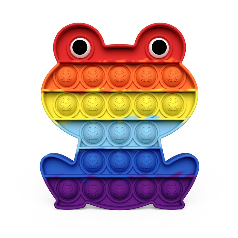 Rainbow Frog Pop It Fidget Toy Push Pop Bubble Sensory Fidget Toy Stress Relief For Kids & Adult