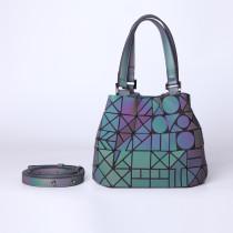 Women Shoulder Bags Luminous Holographic Large Tote Handbags