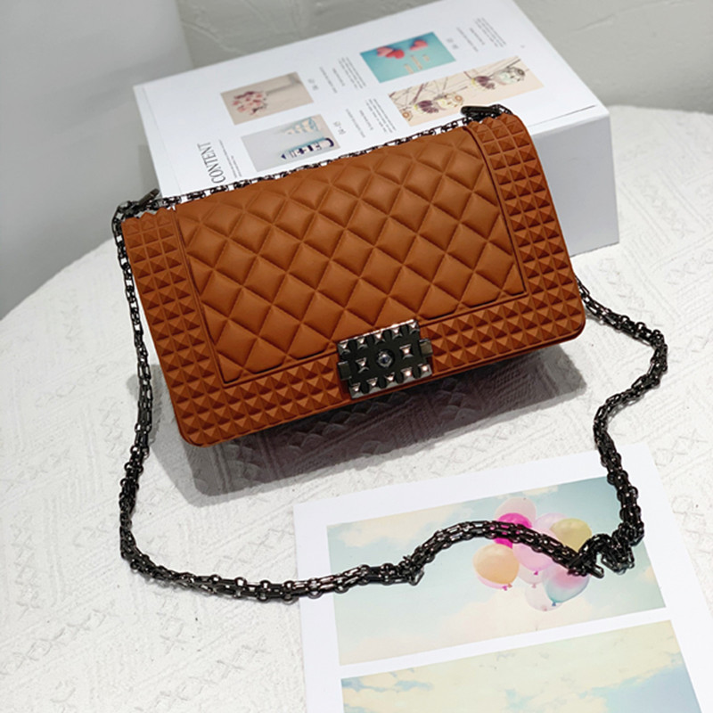 Women Crossbody Diamond Lattice Rivet Square Handbags