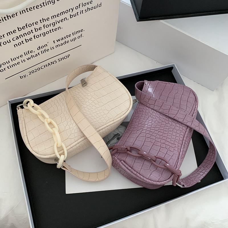 Women Shoulder Bags Armpit Underarm Alligator Chain Handbags