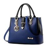 Women Color Matching Handbag Shoulder Cross Body Heart Shaped Pendant Fashion Bags