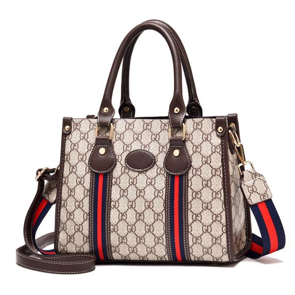 Women Letters Plaids Handbag Shoulder Cross Body Vintage Fashion Bags