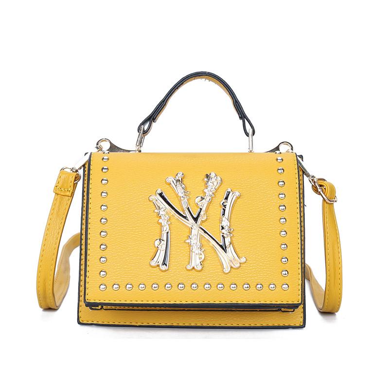 Women Crossbody Solid Color Letter Square Handbags