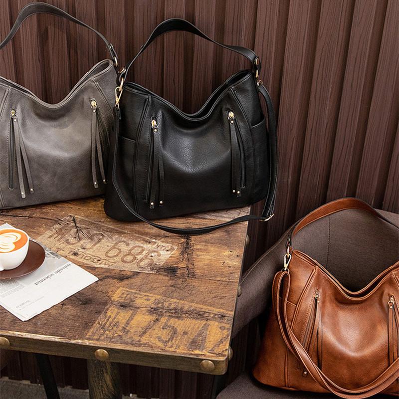 Women Crossbody Bags Tassel Large Capacity Tote Handbags