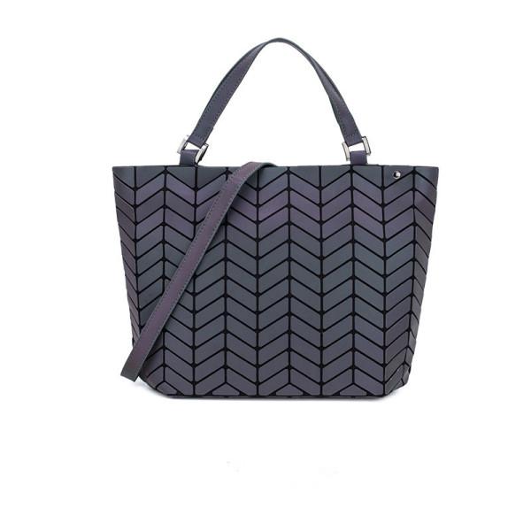 Women Crossebody Shoulder Bags Luminous Holographic Geometric Large Tote Handbags