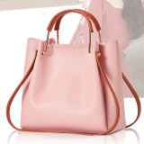 Women Shoulder Bags Solid Color Bucket Large Tote Bags