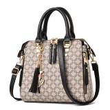 Women Letters Plaids Tassels Handbag Shoulder Cross Body Fashion Bags