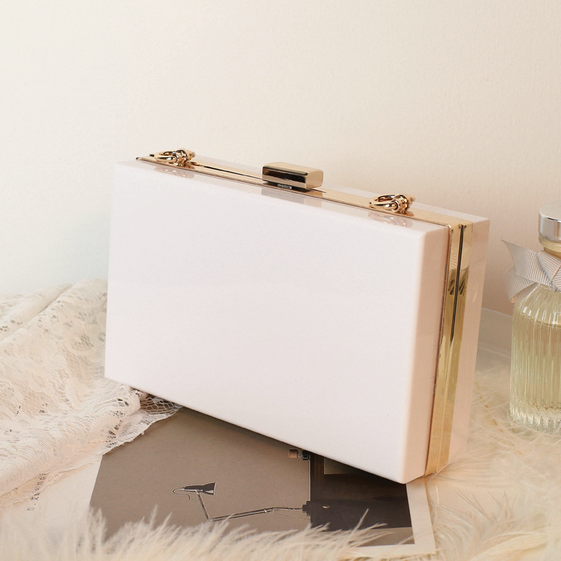 Women Crossbody Clear Box Square Handbags