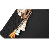 Women Gold Rose Tassels Pendant Crossbody Shoulder Large Tote Bags