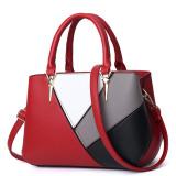 Women Shoulder Bags Crossbody Mulitcolor Matching PU Large Tote Bags