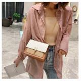 Women Crossbody Buckle Chain Color Block Shoulder Square Shoulder Bags