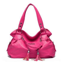 Women Shoulder Bags Soft Leather Pendant Large Tote Handbags