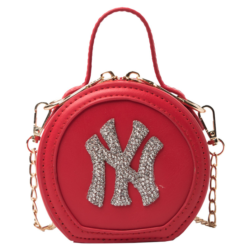 Women Crossbody Round Circle Shaped Solid Color Letter Handbags