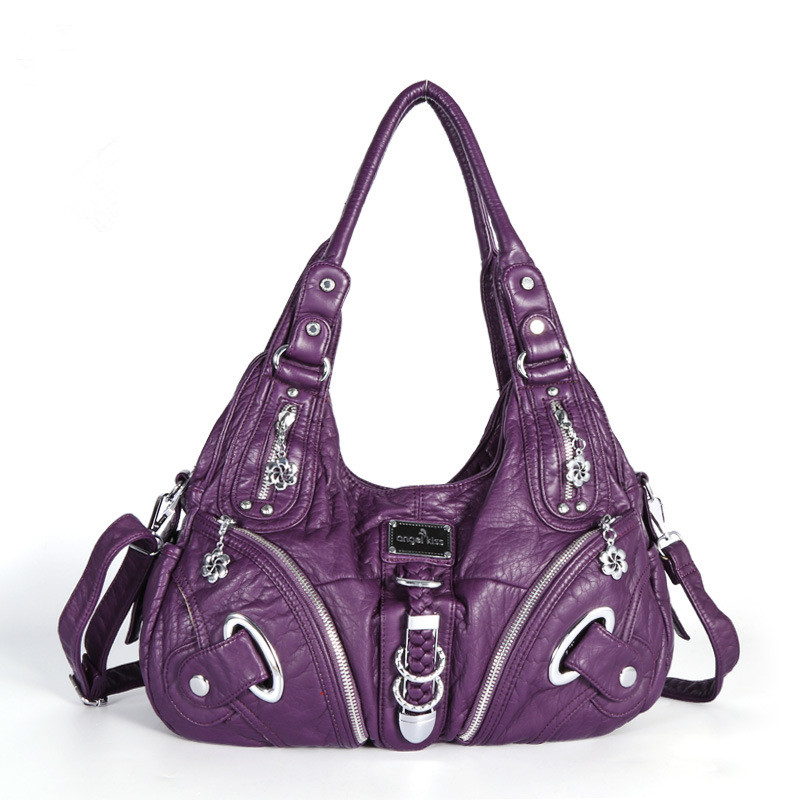 Women Shoulder Bags Satchel Motorcycle Hobo Tote Handbags