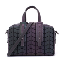 Women Crossbody Luminous Holographic Geometric Square Handbags
