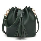 Women Tassel Bucket Tote Bags Handbag