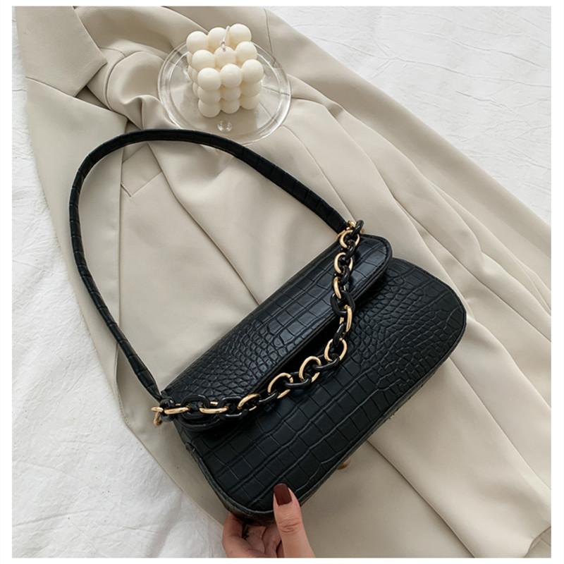 Women Shoulder Bags Armpit Underarm Alligator Handbags