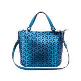 Women Shoulder Bags Luminous Holographic Geometric Large Tote Handbags