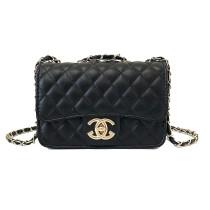 Women Crossbody Diamond Lattice Solid Color Square Handbags