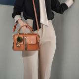 Women Crossbody Shoulder Bags Pompom Square Handbags