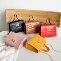 Women Crossbody Crocodile Pattern Chain Square Handbags